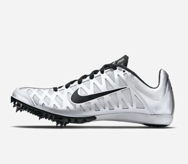 best loved 4b55a 7997f Nike ZOOM MAXCAT Mens Size 11 Track Field Racing Sprint Spikes White Black