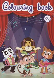 Colouring-Book-Malbuch-fuer-Kinder-Tiger-Loewe-Panda-Katze-und-v-andere-242