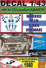 DECAL 1/43  FIAT 131 ABARTH M.ALEN R.MONTECARLO 1980 DnF (01)