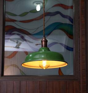 Industrial Green Porcelain Pendant Lamp Shade Factory