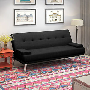 Stupendous Details About Click Clack Fabric 3Seater Black Sofa Bed Recliner Modern Luxury Design Funiture Download Free Architecture Designs Momecebritishbridgeorg