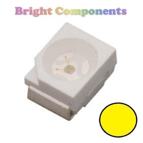 UK SMD SMT 3528//1210 10 x Yellow PLCC-2 LED - Ultra Bright 1st CLASS POST
