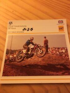 AJS-350-Crescent-motocross-Bill-Nilsson-1957-Card-motorrad-Collection-Atlas