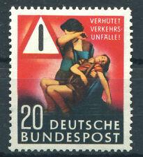 Bund 162 postfrisch Verkehrsunfall Verhütung BRD 1953 MNH