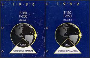 1999 ford f 150 250 shop manual 2 volume set f150 f250. Black Bedroom Furniture Sets. Home Design Ideas