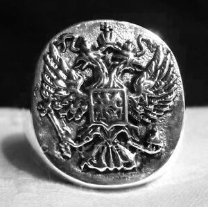 STERLING-SILVER-925-IMPERIAL-RUSSIAN-EAGLE-BYZANTINE-GREEK-ORTHODOX-MEN-039-S-RING