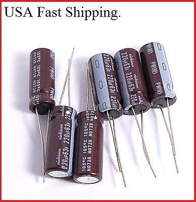 220uf 63v NCC Radial Electrolytic Capacitors KMF 63v220uf 6pcs