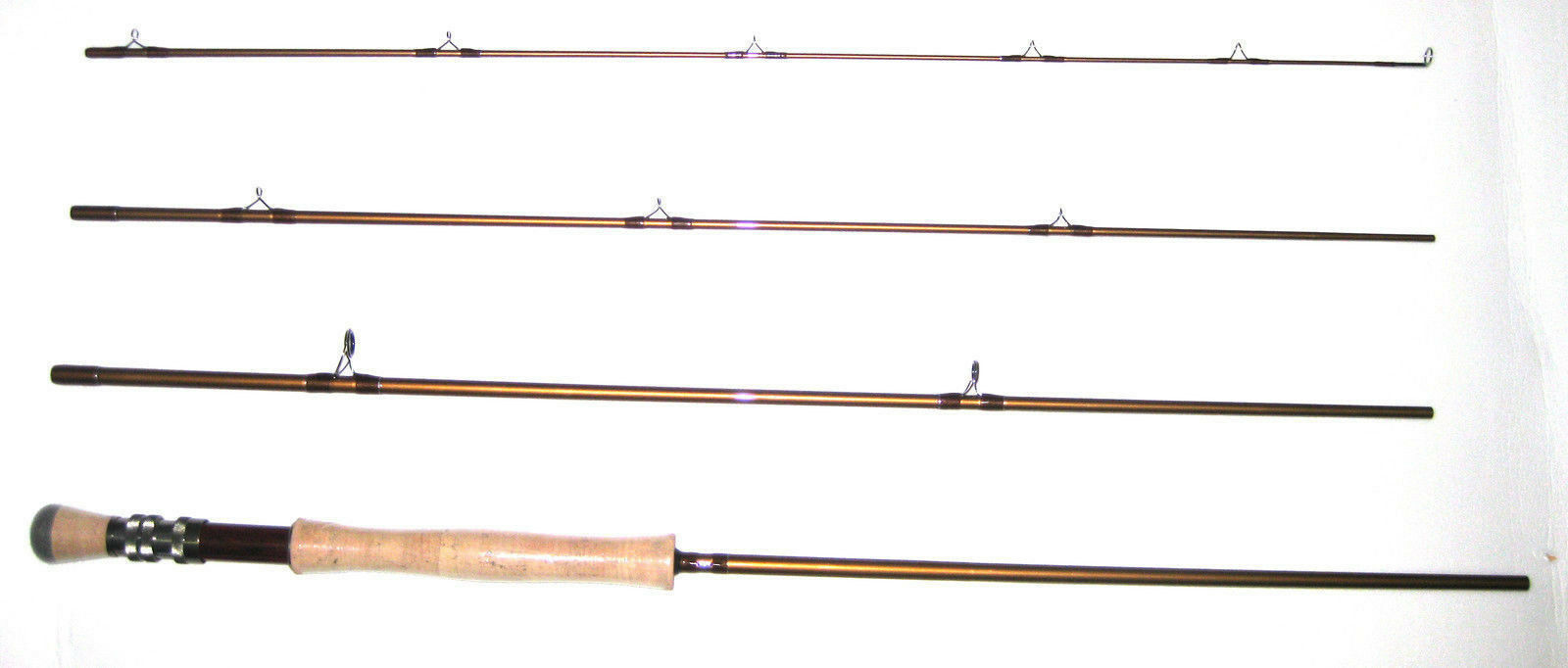 KUFA  8 4 section Graphite Fly fishing rods (L 9'; LW  8; Act MF) KFL9478