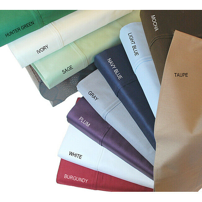 California King Size Superb 6 PCs Sheet Set Egyptian Cotton 1000 TC Solid colors