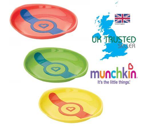 Munchkin Bebé los platos de comida Destete Blanco Caliente placas 2Pk