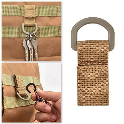 Nylon Webbing EDC Tool Carabiner Keys Hook Hanging Belt Clip Olecranon Buckle