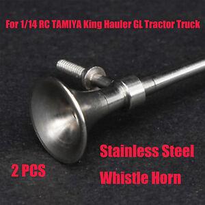 Lesu-Metal-silbato-Bocina-Para-1-14-Tamiya-King-Hauler-GL-RC-Modelo-De-Camion-Tractor