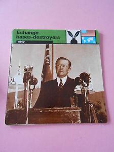 Guerre War 1940 Echange bases-destroyers les termes du marché  Fiche Card