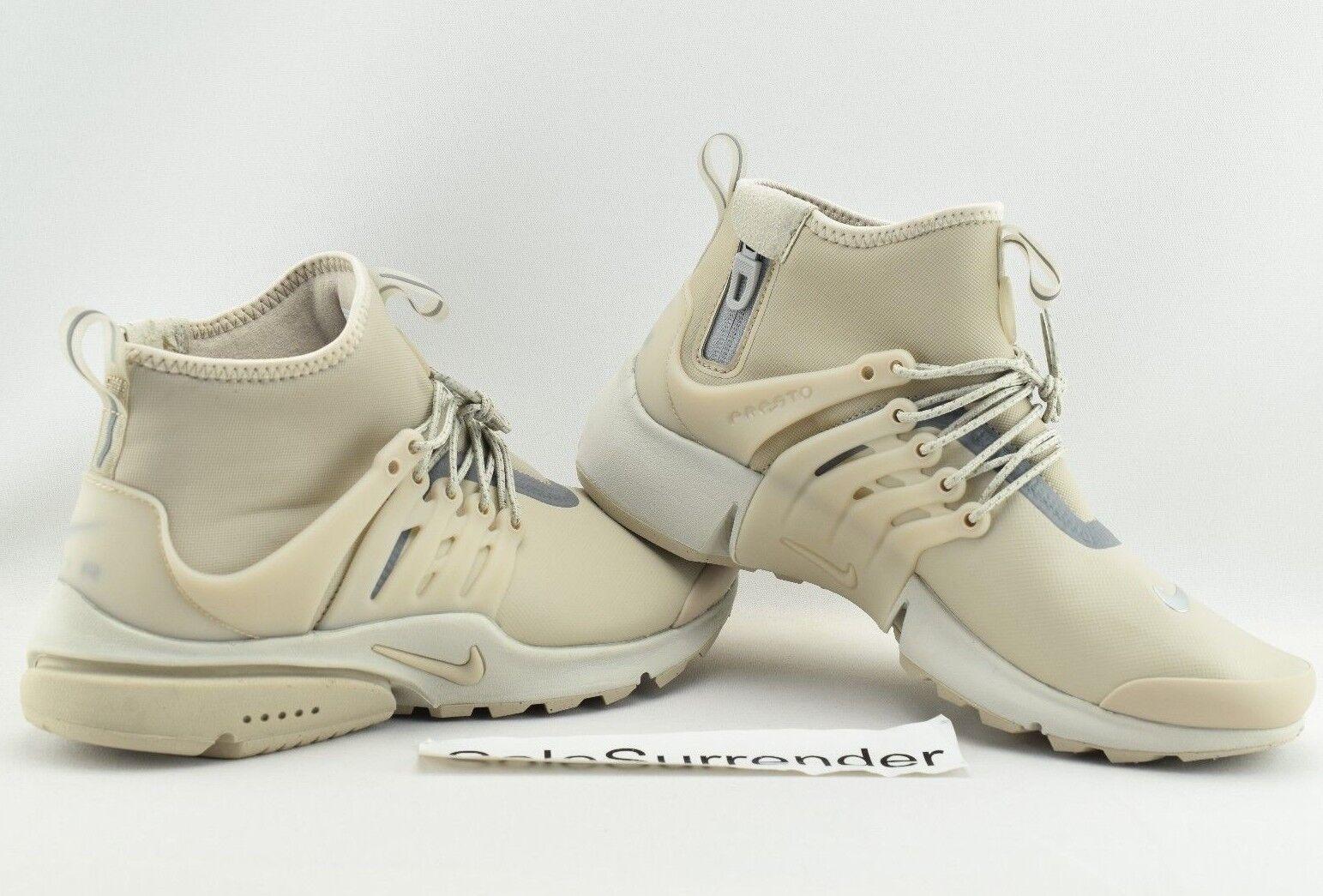Women's Nike Air Presto Mid Utility - SIZE 10 - 859527-200 Beige String Hi Tan