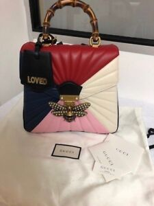 2edc190bfa4f Image is loading Gucci-Queen-Margaret-Colorblock-Quilted-Leather -Mini-Backpack-