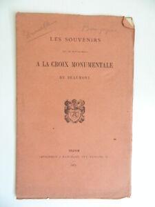 La Croix Bronce Cancillería Beaumont Borgoña Por Drouelle De Dijon Marchand 1873