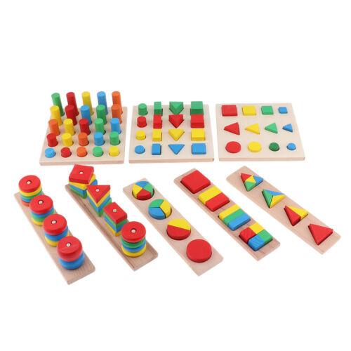 Montessori Formen und Farben Steckspiel Sortierspiel Stapelspiel aus Holz