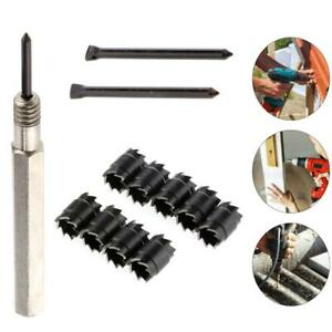 """13X 3//8/"""" Double Sided Rotary Spot Weld Cutter Remover Drill Bits Cut Welds Kit"""