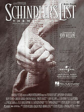 Theme from Schindler's List Movie for Easy Piano Sheet Music John Williams NEW