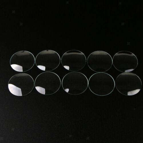 10 Stück gewölbt Mineralglas Uhr Objektiv Ersatzteile Uhrmacher