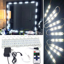 10ft Dressing Mirror Cosmetic Makeup Vanity LED White Lights Lighted w/ Remote