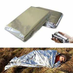 Outdoor Big Emergency Tent//Blankets//Sleeping Bag Survival Hiking Camping Shelter