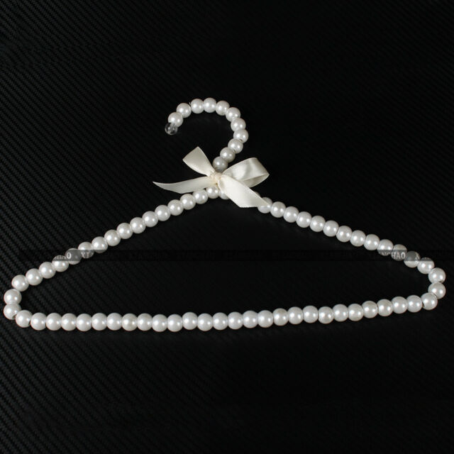 1/3/5X Beaded Plastic Pearl Clothes Clothing Hangers Fashion Personality Elegant