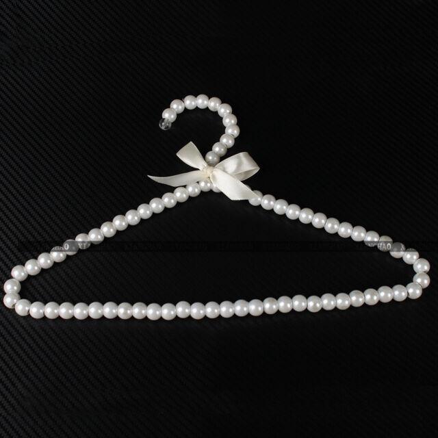 Personality Style Plastic Pearl Beaded Clothing Hangers Elegant Fashion 1/3/5X