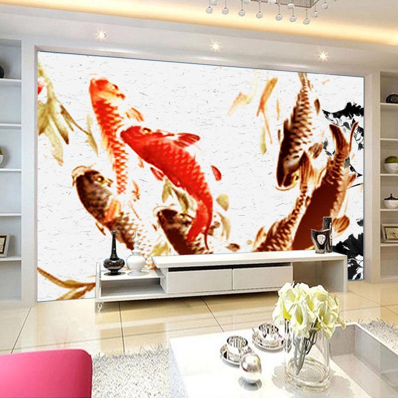3D Carp Picture 732 Wallpaper Mural Paper Wall Print Wallpaper Murals UK Lemon