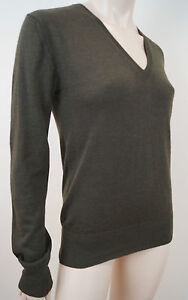Olive Wool Mcq m 100 Green Sz Alexander Brown Neck Mcqueen V Jumper Sweater qqYUpxE