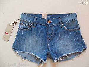Levi-039-s-Hotpants-Shorts-kurze-Jeans-Hose-Gr-S-NEU-Water-lt-Less-Faded-Denim