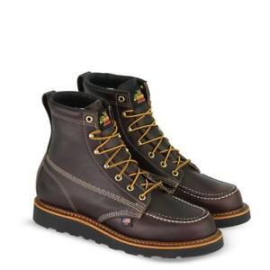 Thorogood-Work-814-4266-Men-039-s-6-Black-Walnut-Moc-Toe-Boot