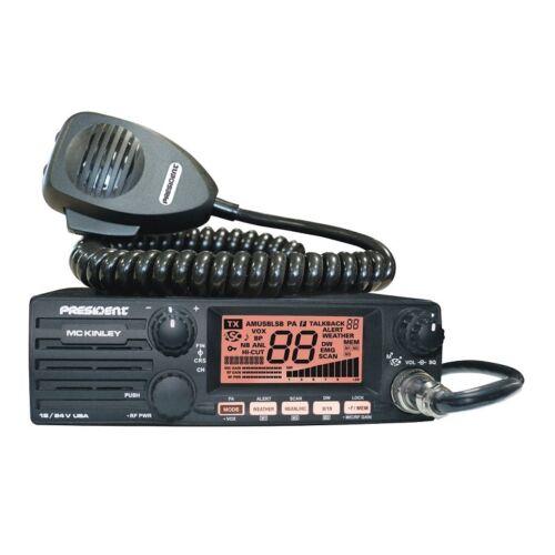 PRESIDENT MCKINLEY AM//SSB SMALLER SIZE DELUXE 40 CHANNEL CB RADIO