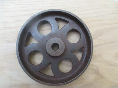 "6/""//150MM Cast iron vintage old industrial AXLE WHEEL antique rustic iron"