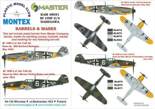 Metal Part #KAM48031 Montex KAM 1:48 Bf-109 F-2//4 for Hasegawa Mask