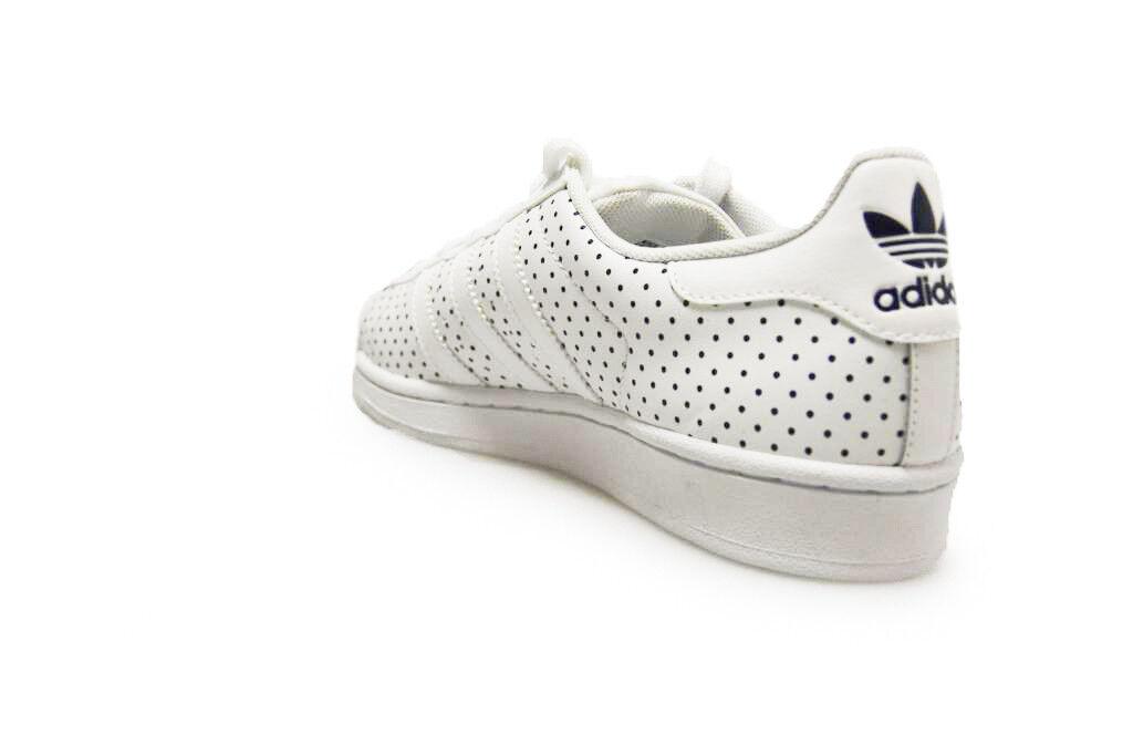 Femme Adidas Superstar - W - Superstar S79589 - Blanc Dark  Bleu  Trainers 8b1d8d