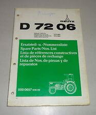 Teilekatalog / Spare Parts List / Lista de Repuestos Deutz Tracktor D 7206