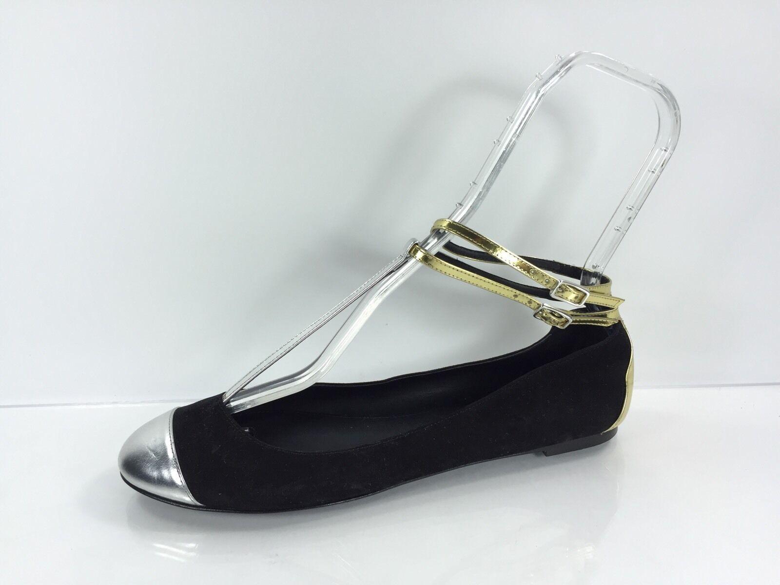 J CREW Femmes Noir Multi Couleur leather flats 9
