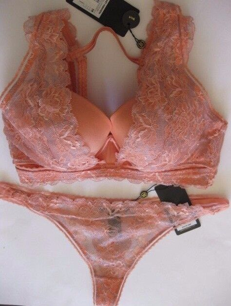 900a48004 Pleasure State Couture Honey Habanera 12d   34d Bra M Thong Lobster Silk  for sale online