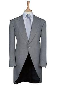 royal ascot light grey 2 piece wool ex hire tailcoat wedding tails ... 3dbb73a5ed0