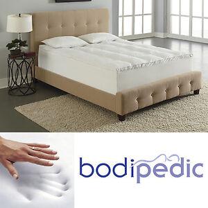 Bodipedic-4-inch-Dual-Layer-Pillow-Top-Memory-Foam-Mattress-Topper