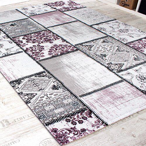 Moderne Gris Tapis Grande Violet patchwork motif Tapis nouveau petit Grande Tapis Salle Lounge Tapis e19139