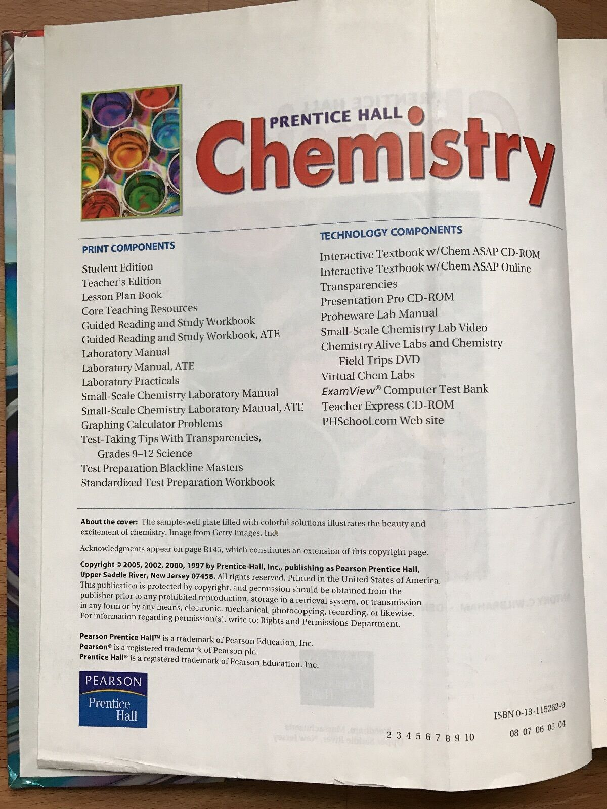 Chemistry by Dennis D. Staley, Michael S. Matta, Edward L. Waterman,  Prentice Hall Dictionary Editors and Antony C. Wilbraham (2004, Hardcover,  ...