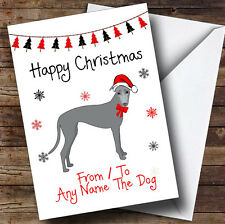 Greyhound From Or To The Dog Pet Personalised Christmas Card