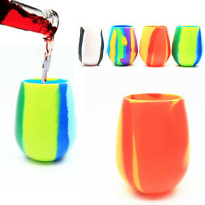 Unbreakable Silicone Wine Glass Foldable Portable Outdoor Beer Cup BPA-Free