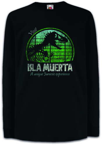 Visit Isla Muerta Bambini Manica lunga T-shirt Jurassic Fun DINOSAUR T REX Park