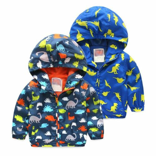 Toddler Baby Boys outerwear Hooded coats Cartoon Kids Baby Autumn Clothes