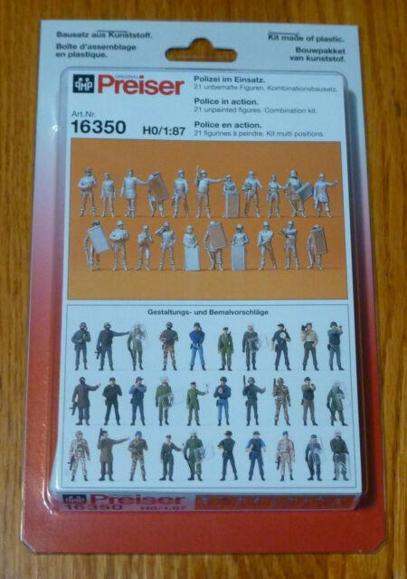 Cops//Police with Motorcycle 6Pk Preiser HO Scale Model Figure//People Set