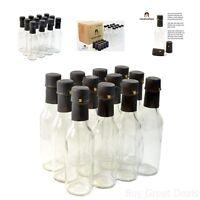Hot Sauce Clear Bottles Empty Glass Shrink Capsules Oils Dressings Vinegars 5oz