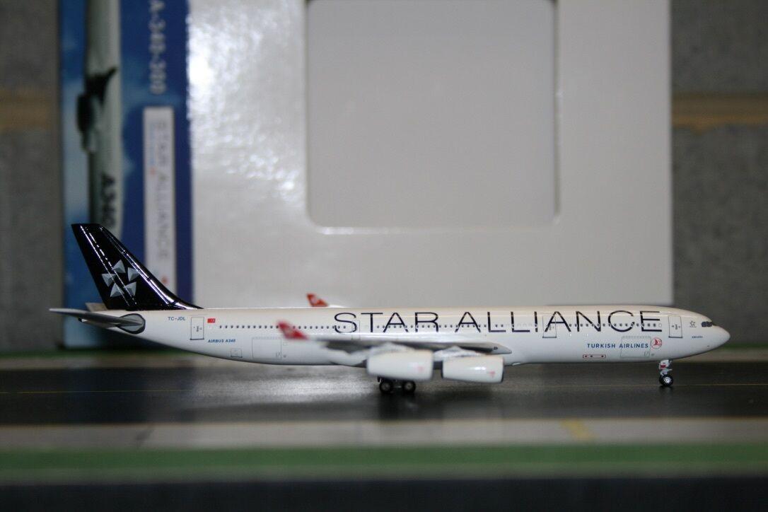 Aeroclassics 1 400 Turkish Airlines Airbus A340-300 TC-JDL (ACTCJDL) Model Plane